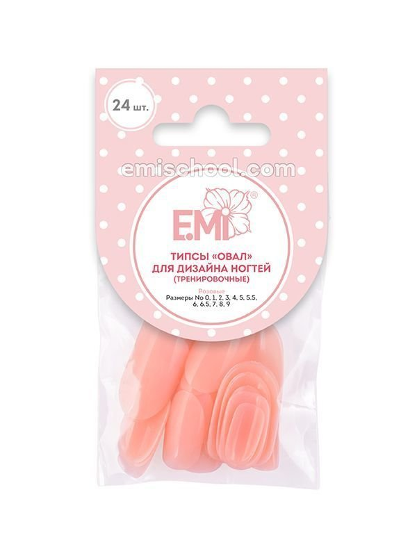 Pink Tips Oval, 24 pcs