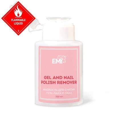 Gel and Nail Polish Remover, 200 ml.