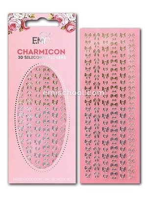 Charmicon 3D Silicone Stickers Bows Gold/Silver
