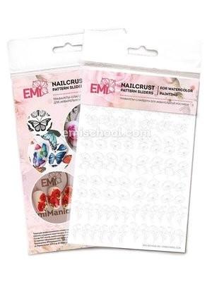NAILCRUST Pattern Sliders Flowers MIX #33