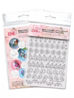 NAILCRUST Pattern Sliders #37 Flowers MIX #2