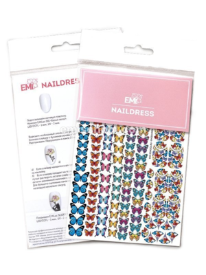 Naildress Slider Design #6 Butterflies