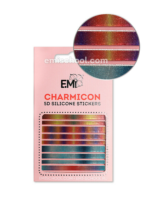 Charmicon 3D Silicone Stickers #102 Lines