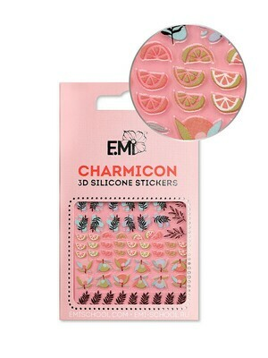 Charmicon 3D Silicone Stickers #127 Leaves & Fruits