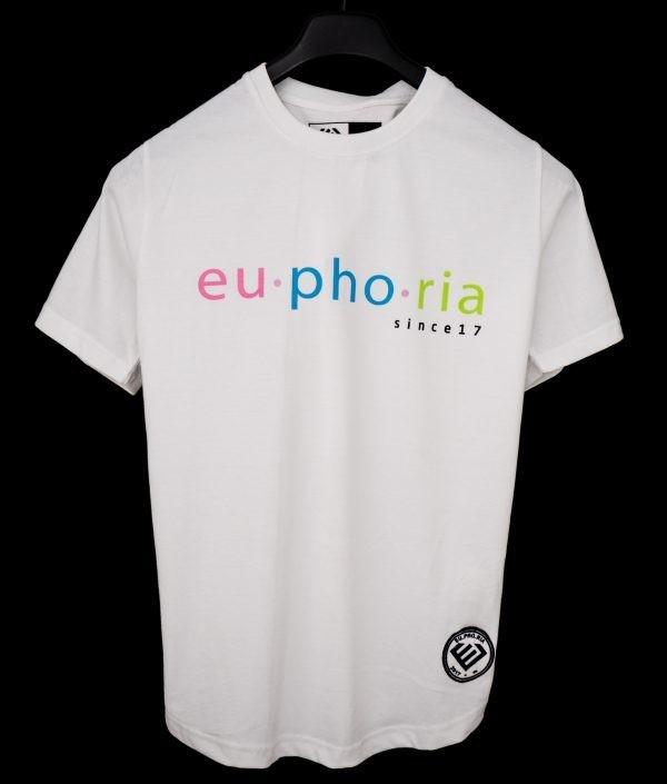 Euphoria -  White Tee Front Logo