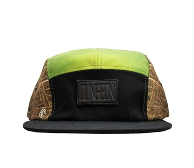 Dungeon Forward - 6 Panel Green/Brown Cap