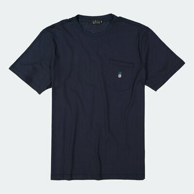 Qilo - Pineapple Pocket Tee in Royal Navy