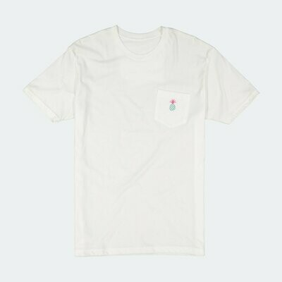Qilo - Pineapple Pocket Tee in Ivory