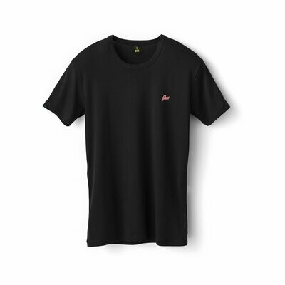 Fshns Red Logo Black tee