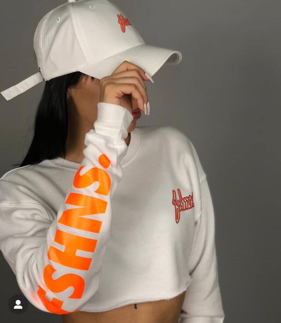 Fshns Long Sleeve Top (White/Orange)