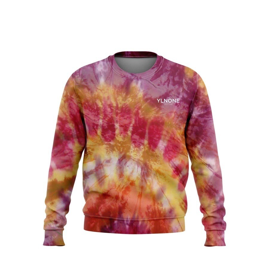 ONLYONE - Long-sleeve Orange Tye Dye