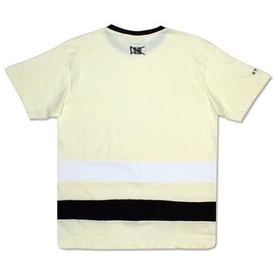 Yellow/Black White Line Tee