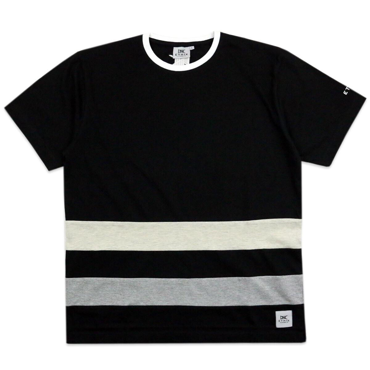 Black with Grey Line tee