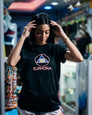 Euphoria - Pink Triangle Black Tee