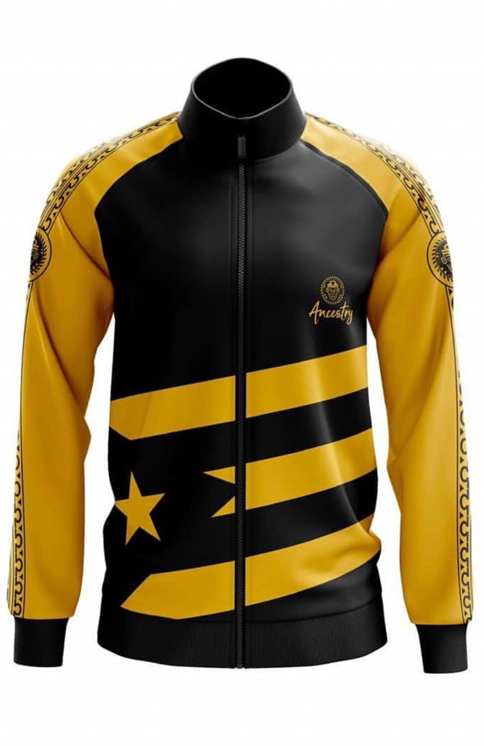 Ancestry - Black & Yellow PR Flag Jacket