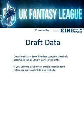 UKFantasyLeague Draft Selections