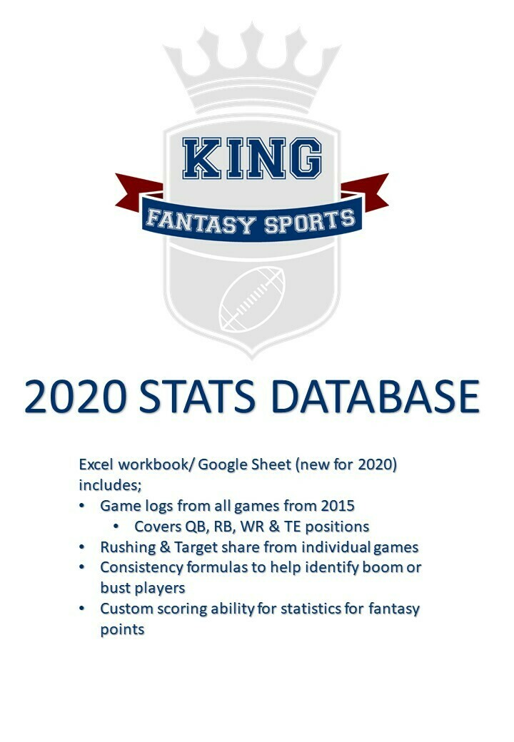 2020 Stats Database (Now with Google Sheets)