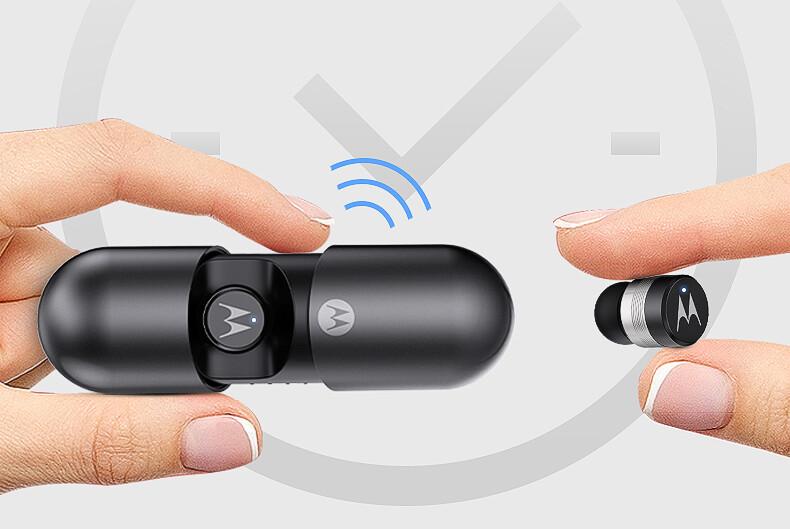 Motorola Bluetooth 5.0 Headphones Wireless Gray Vervebuds