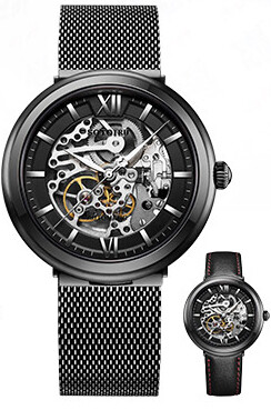 Sotoiru OT Watch Mechanical Gears Design Premium Silver