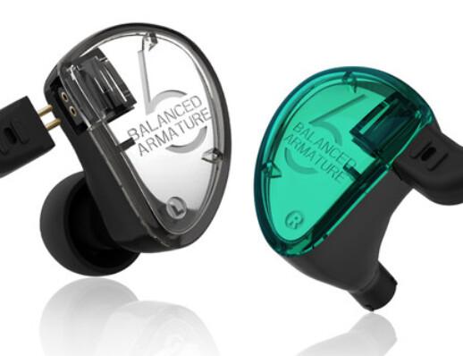 KZ AS06 Earphones HiFi Balanced Armature 6 High Quality