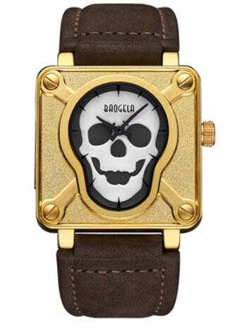 Baogela Skull Watch Black & White Punk Edition