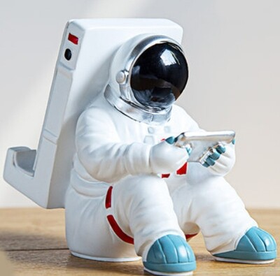 Space Man Cellphone & Tablet Desk Support - Cool Decor for Setups