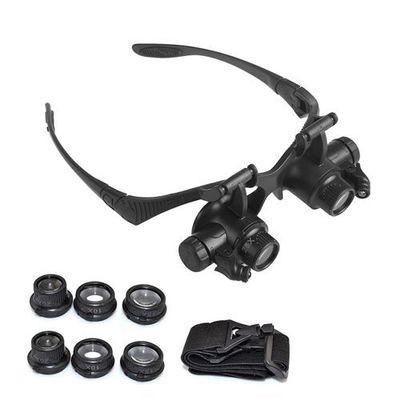 10X 15X 20X 25X LED Eye Jeweler Watch Repair Magnifying Glasses