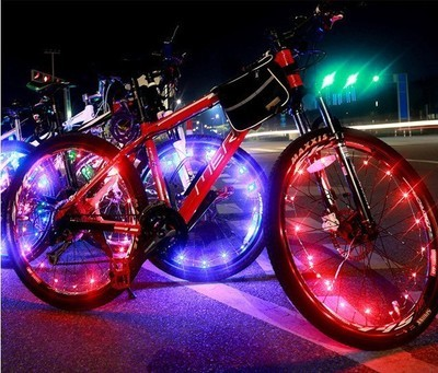 20 LED Colorful Bicycle Lights Mountain Road Bike Light Cycling Spoke Wheel Lamp Bike Accessories
