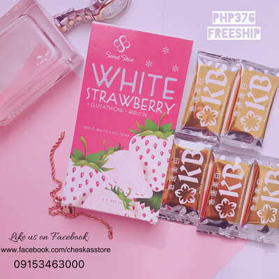 Whitening Soaps Combo (KB Silver & Strawberry soap)