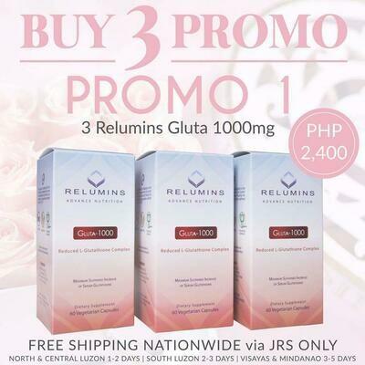 Buy 3 Promo #1  - 3 Relumins Gluta 1000mg