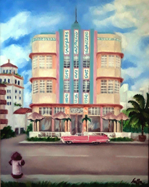 South Beach Art Deco Print - CRL028