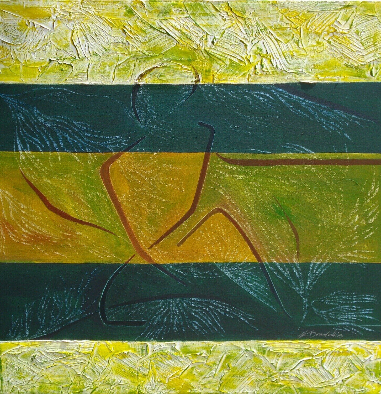 Green And Yellow III Print - EB028