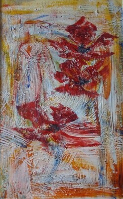 Two Red Flowers Print On Sale - EB015