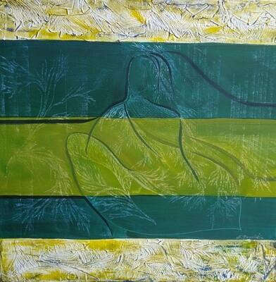 Green And Yellow II Print - EB027