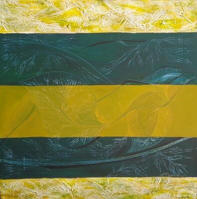 Green And Yellow I Print - EB026