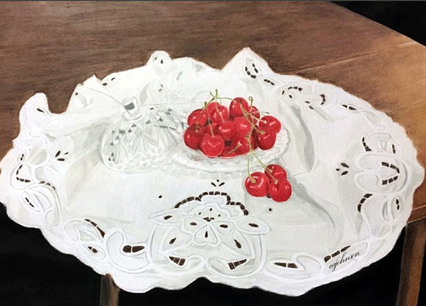 Heirlooms and Cherries Print - CAJ068