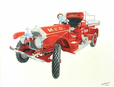 1920 Fire Engine Print - CAJ050