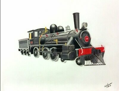 Early Locomotive Print - CAJ049