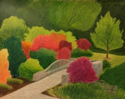 Garden Bridge in Fall - CAJ059