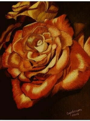 Rusty Rose Card - CAJ047