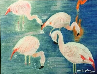 Sissy's Flamingos Card - CAJ040