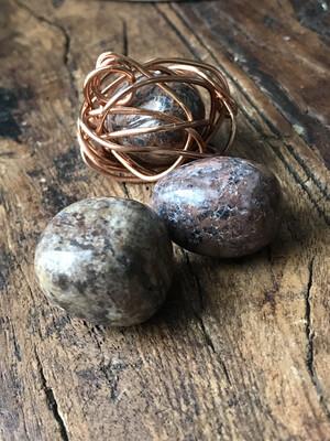 Necklace: Leopardskin Jasper