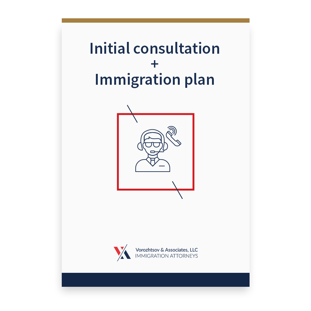 Initial consultation + Immigration plan S2