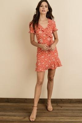 Laura Floral Print Mini Dress