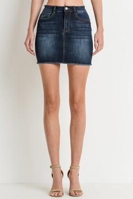 Serena Dark Wash Mini Skirt