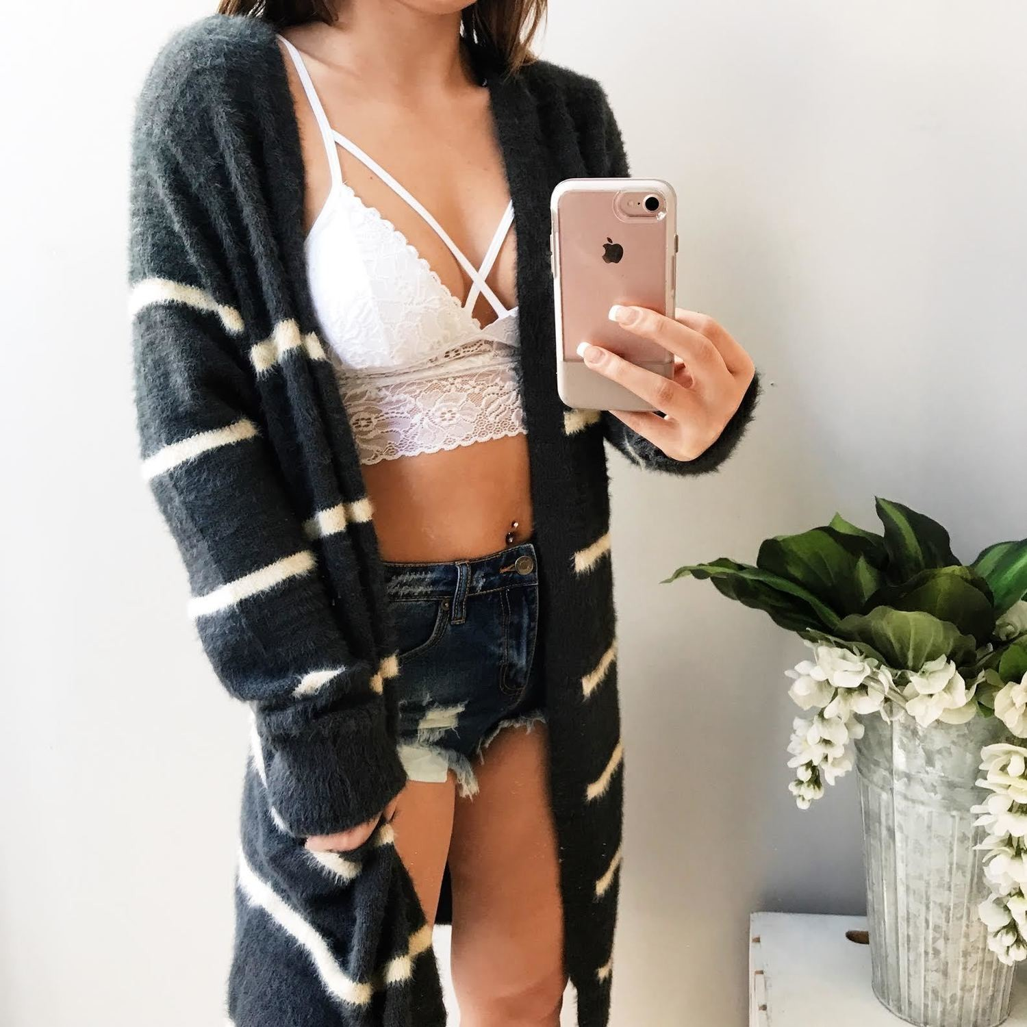 Alice Striped Cardigan