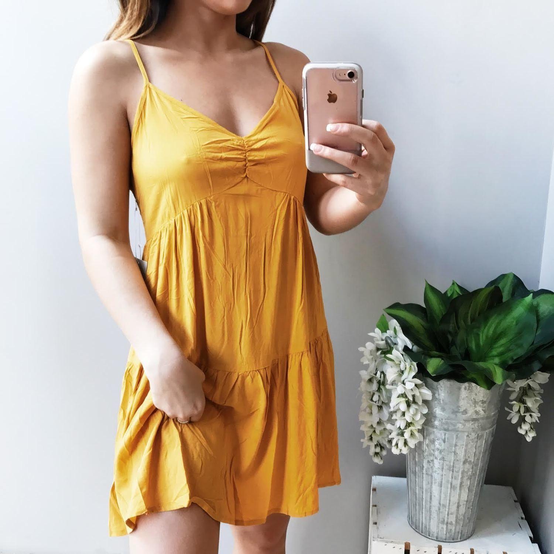 Mia Lace Up Back Sun Dress