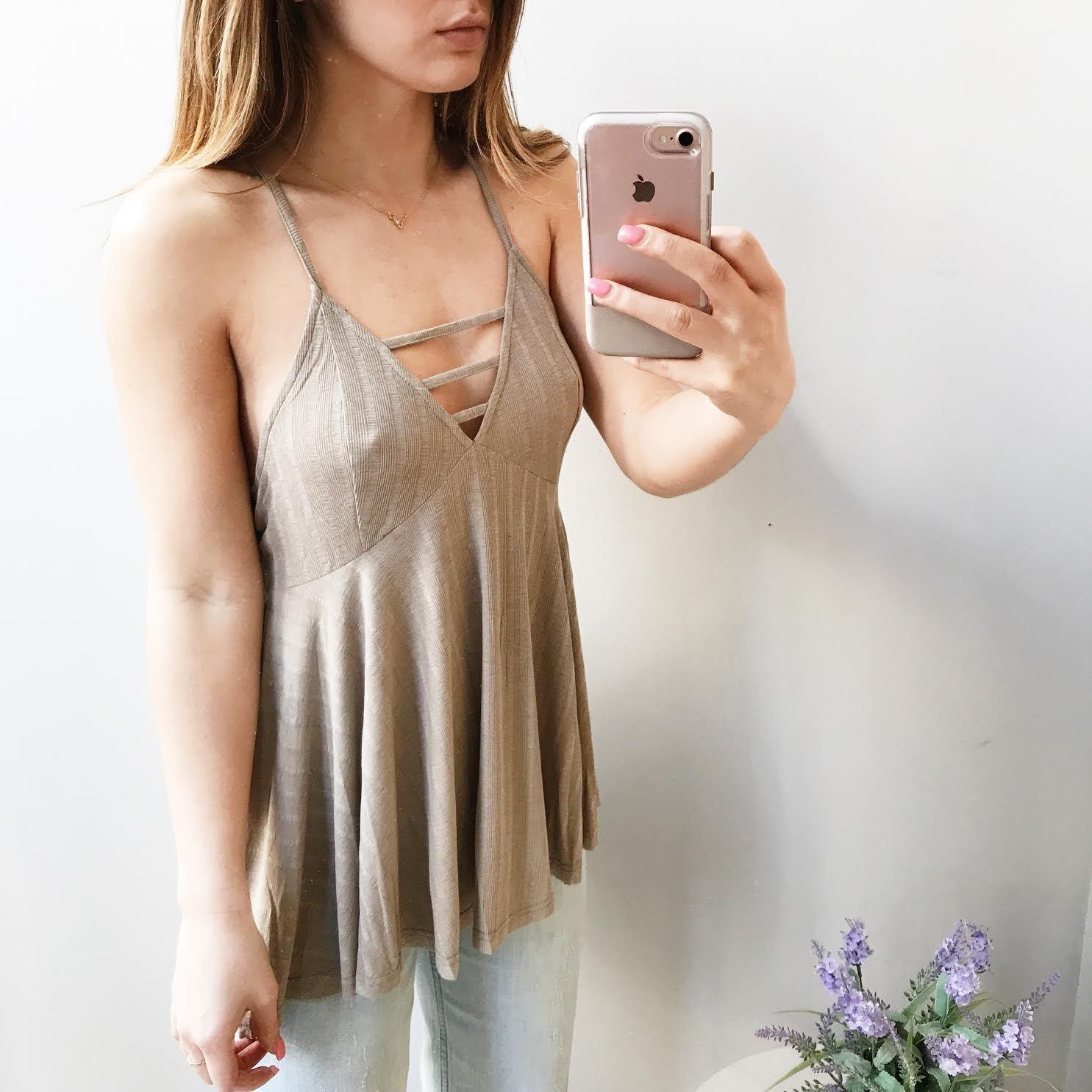 Sofia Babydoll Knit Tank