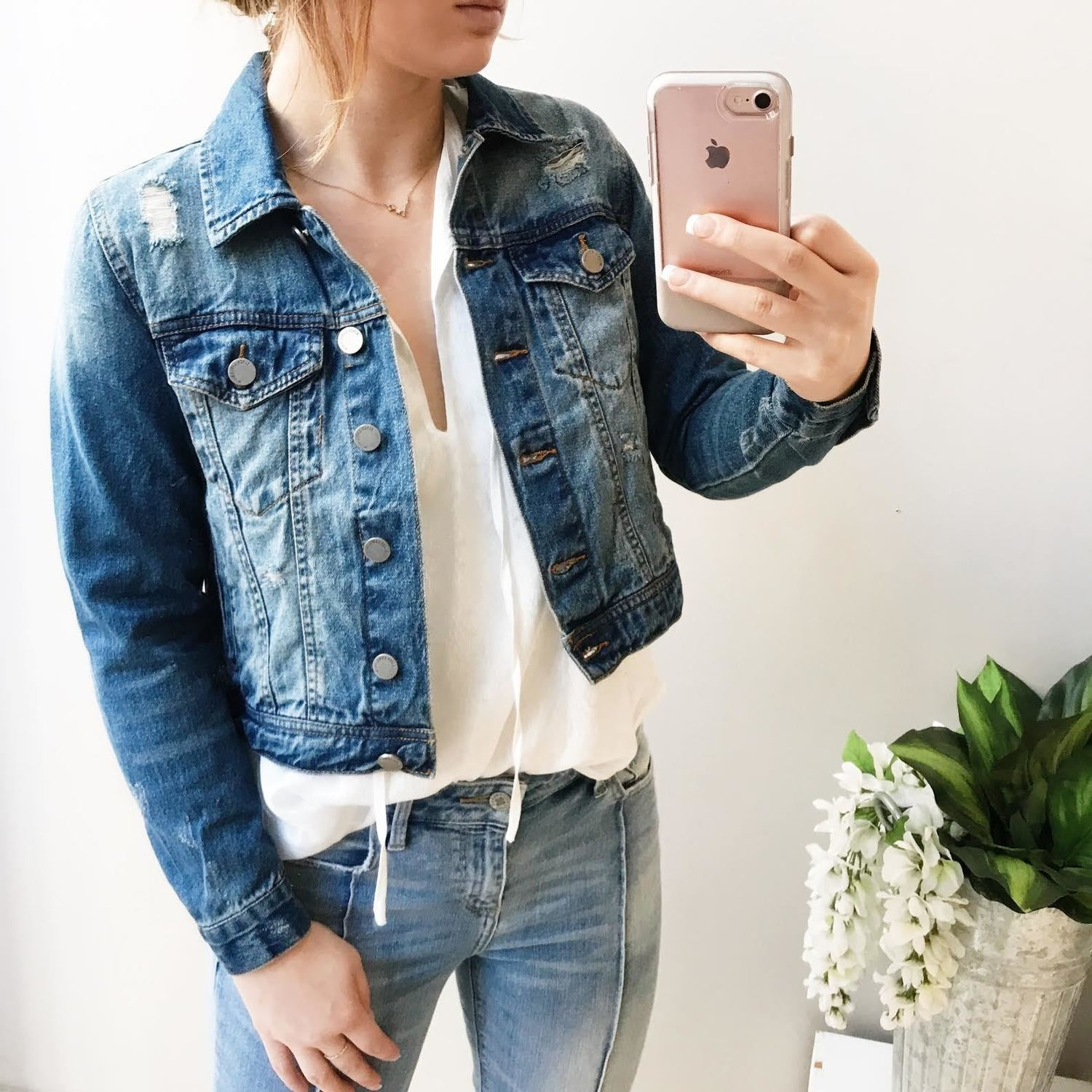 Hazel Distressed Denim Jacket