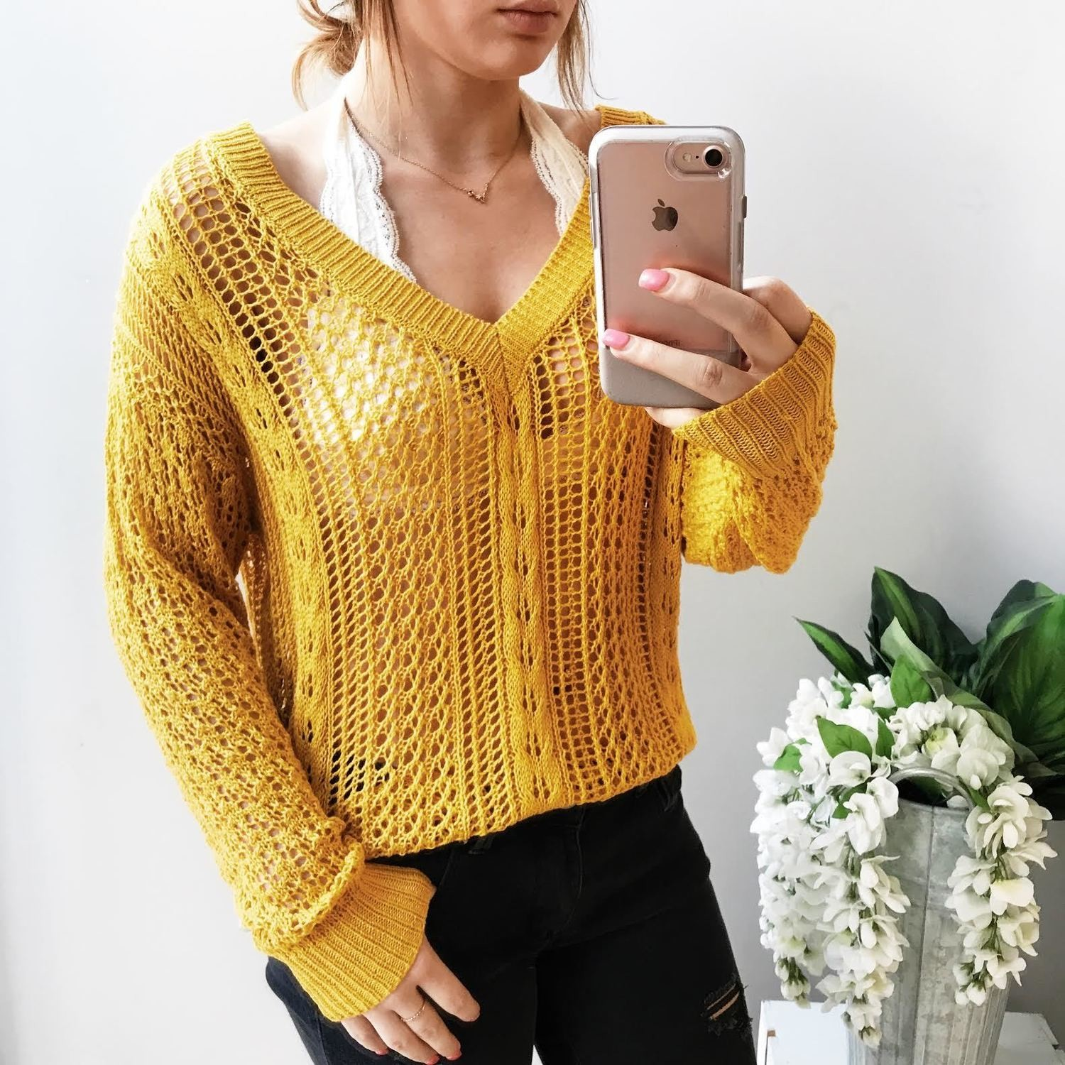 Sammie Open Knit Sweater